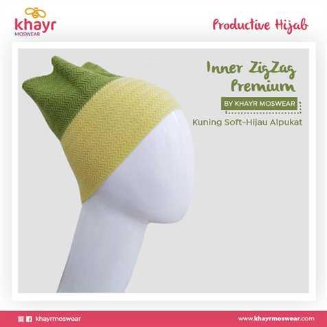 Inner zigzag Twotone 16 (Kuning soft - Hijau Alpukat)