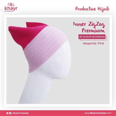 Inner zigzag Twotone 18 (Magenta - Pink)