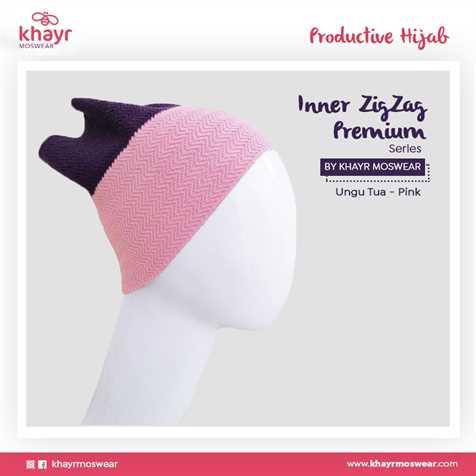 Inner zigzag Twotone 24 (Ungu tua - Pink)