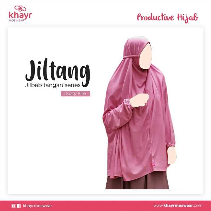 Jilbab Tangan Series Dusty Pink