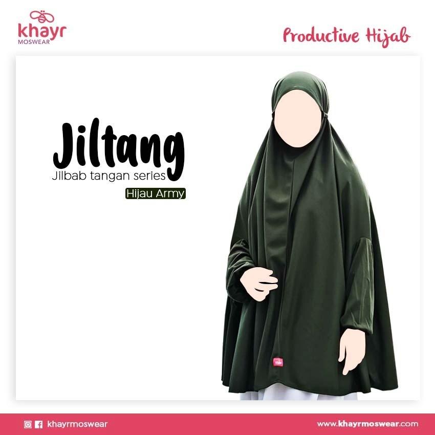 Jilbab Tangan Series Hijau Army