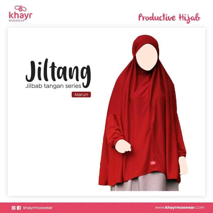 Jilbab Tangan Series Marun