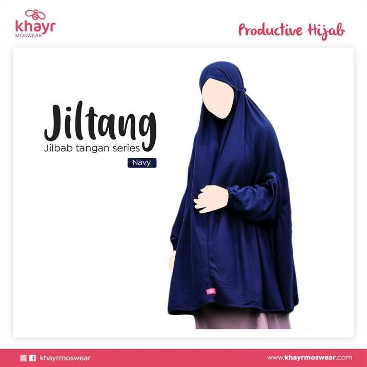 Jilbab Tangan Series Navy