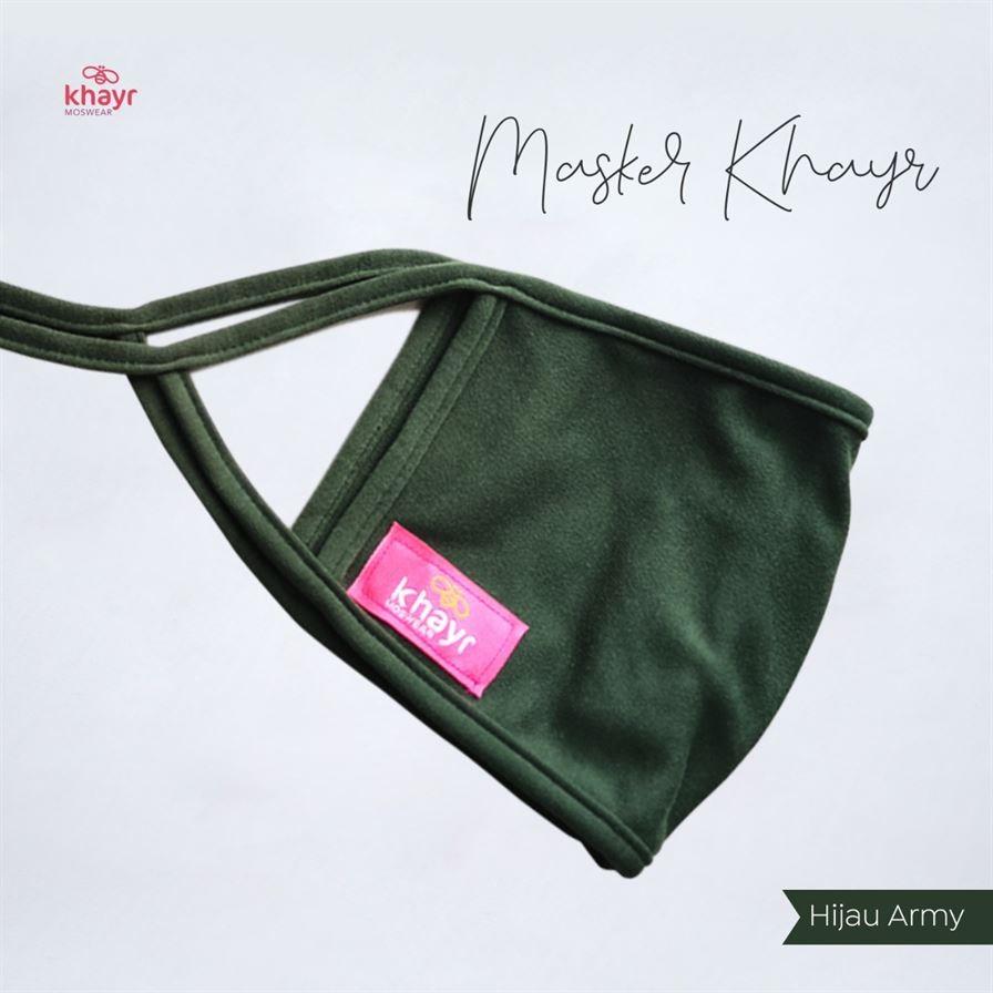 Masker Khayr Hijau Army