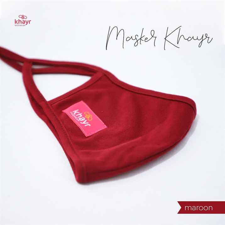 Masker Khayr Maroon