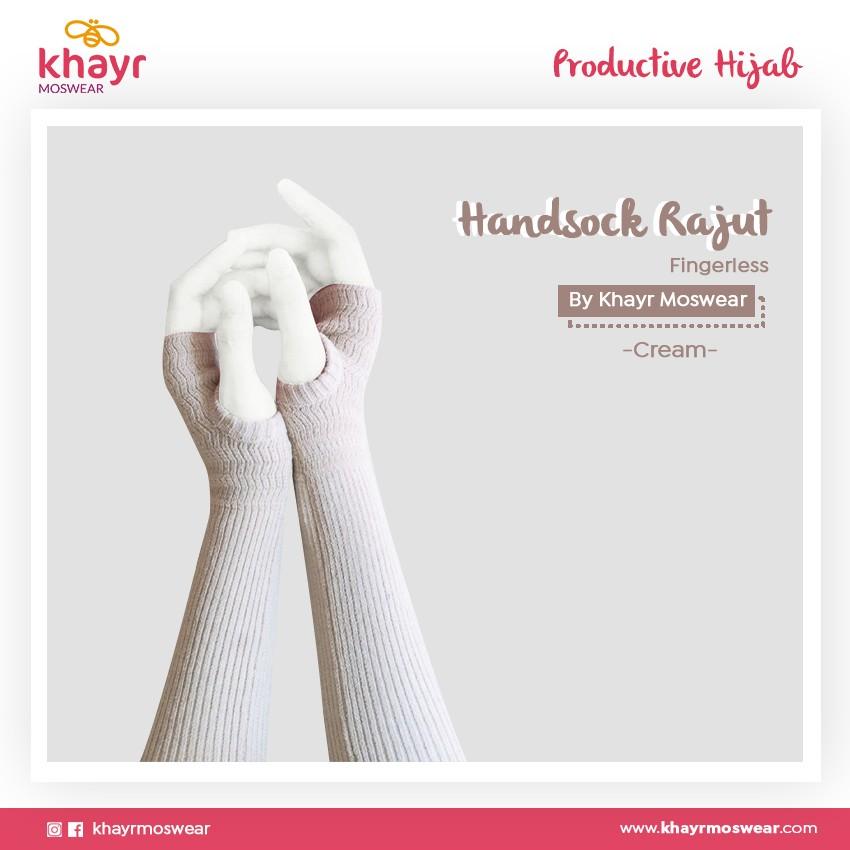 Rijek Handsock Fingerless Cream