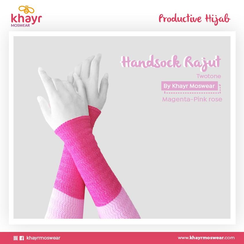 Rijek Handsock Twotone Pink Rose - Magenta