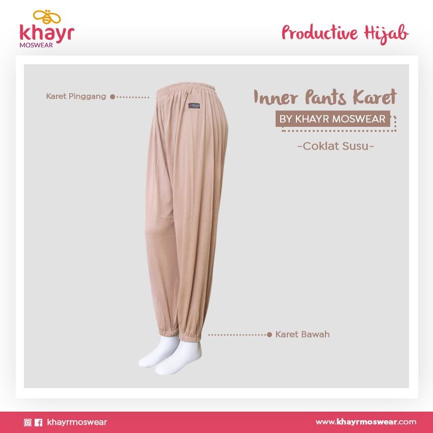 Rijek Inner Pants Karet Coklat Susu