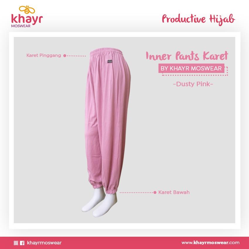 Rijek Inner Pants Karet Dusty Pink