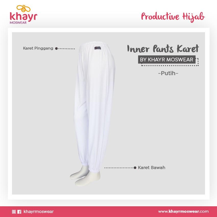 Rijek Inner Pants Karet Putih